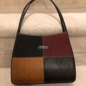 Vittorio Italy leather multi color shoulder bag